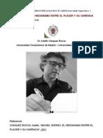 MICHEL ONFRAY; EL HEDONISMO ENTRE EL PLACER Y SU CARENCIA Por Adolfo Vásquez Rocca PH.D.