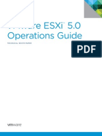 vSphere 5 ESXi Operations Guide