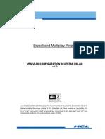 VPN VLAN Configuration in UTStar DSLAM V