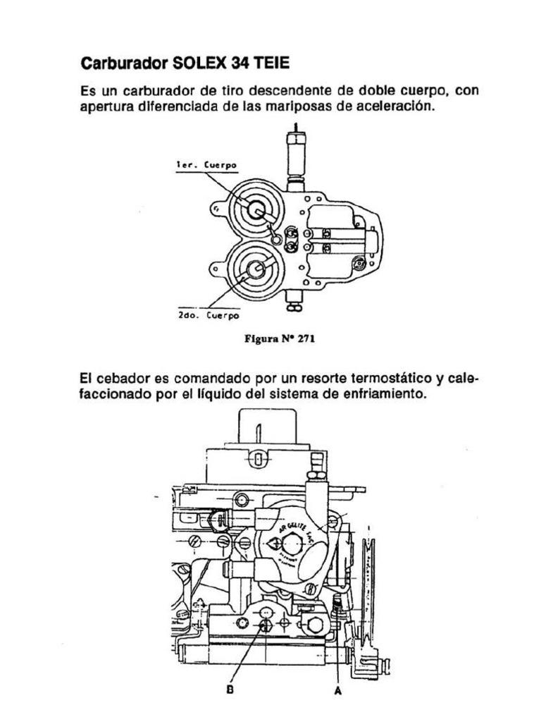despiece carburador solex 34 teie rh es scribd com