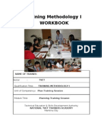 Plan Training Session Workbook
