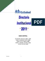 DIRECTORIO Sede Central 2011