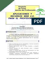 Aplicaciones y Recursos Web 20 Para El Profesorado
