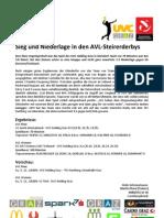Sieg und Niederlage in den AVL-Steirerderby