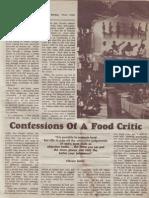 Confessions of a Food Critic