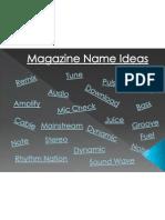 Magazine Name Ideas
