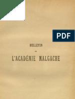 Bulletin de l'Académie Malgache VIII - 1925