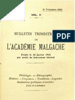 Bulletin de l'Académie Malgache II, 3 - 1903