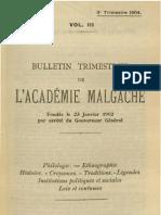 Bulletin de l'Académie Malgache III, 3 - 1904
