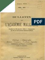 Bulletin de l'Académie Malgache VIII - 1910