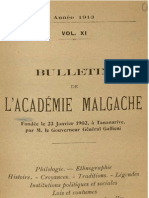 Bulletin de l'Académie Malgache XI - 1913