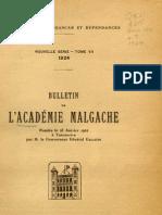 Bulletin de l'Académie Malgache VII - 1924