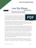 Never Eat Alone Summary - Joe Murphy Notes
