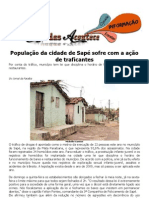 População da cidade de Sapé sofre com a ação de traficantes