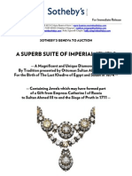 Press Release - Suite of Imperial Jewels - Sotheby's Geneva - 15 Nov 2011