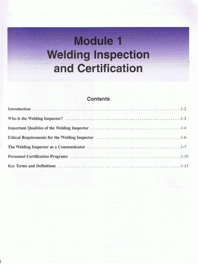Module1 Welding Inspection And Certification