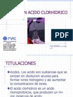 VALORACION DEL Acido Clorhidrico