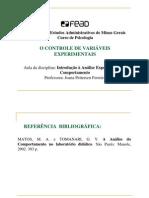 Aula 3 Lab Oratorio) - O Controle de Variaveis Experiment a Is.