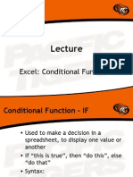 Excel - Conditional Functions