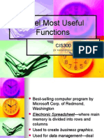 Excel Most Useful Functions