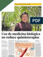 Uso de medicina biológica no reduce quimioterapias