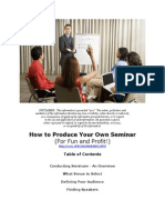 How to Make Money With Conducting Seminars