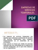 Empresas de Servicios Temp or Ales