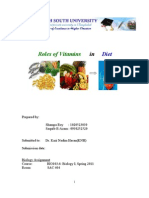 Roles of Vitamins in Diet