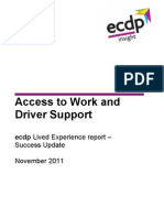 ecdp lived experience report - AtW and driver support - success update