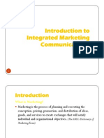 Introduction to Integrated Marketing Communication