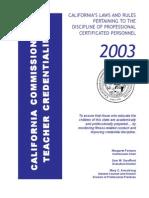 CA Codes2003