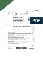 Edexcel GCE Core Mathematics C1 (6663) as June 2008 Question Paper