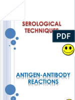 Serological Techniques. Antigen-Antibody Reactions
