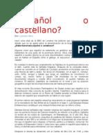 Español o Caste Llano
