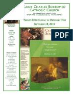 September 18, 2011 Bulletin