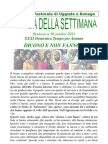 Agenda 30 Ottobre