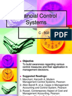 Financial Control Systems - Unit 1