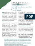 Euro Crisis by Paul de Grauwe 2011 10