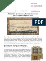 Sept 11- 500 Years Decorative Arts Season