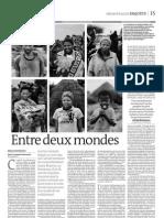 Les San, entre deux Mondes (1er novembre 2011, Le Monde)