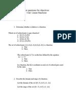 Sample Test for Unit