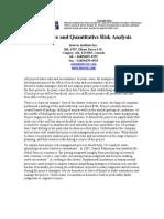Article Quantitative Risk Analysis