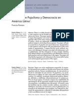 F. Panizza Fisuras entre Populismo y Democracia en América Latina