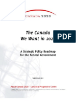 The Canada We Want in 2020 Roadmap Promotional Booklet