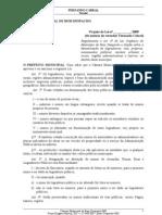 PL Regula a denominação de Logradouros e Próprio Públicos no município de Bom Despacho