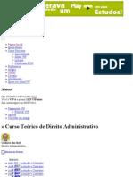 00_Índice_Curso Teórico de Direito Administrativo