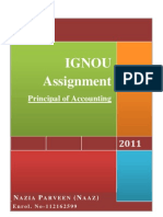 Principles of Accounting Assignmnt