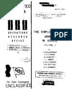 Employment of Armor in Korea Volume I