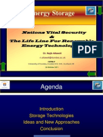 Energy Storage - Nations Vital Security And The Life Line for Renewable Energy Technologies