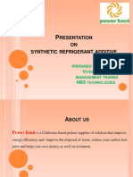 Presentation on Synthetic Refrigerant Additive